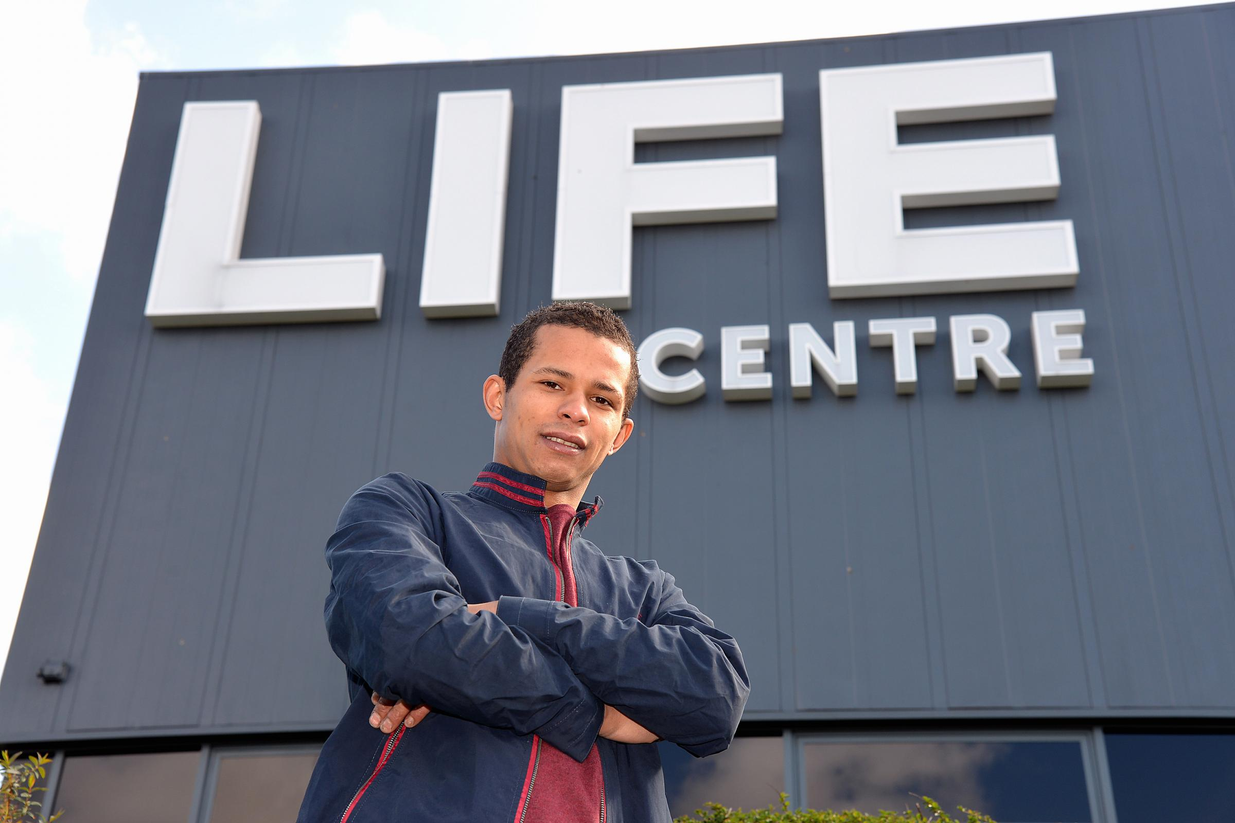 Former drug addict Christian Watson at the Life Centre, Bradford, where he found help to leave drugs behind