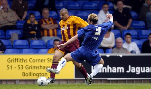 Danny Cadamarteri scored nine goals in 97 appearances for Bradford City