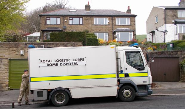 Bradford Telegraph and Argus: The bomb disposal squad. Picture by T&A reader Peter Medd