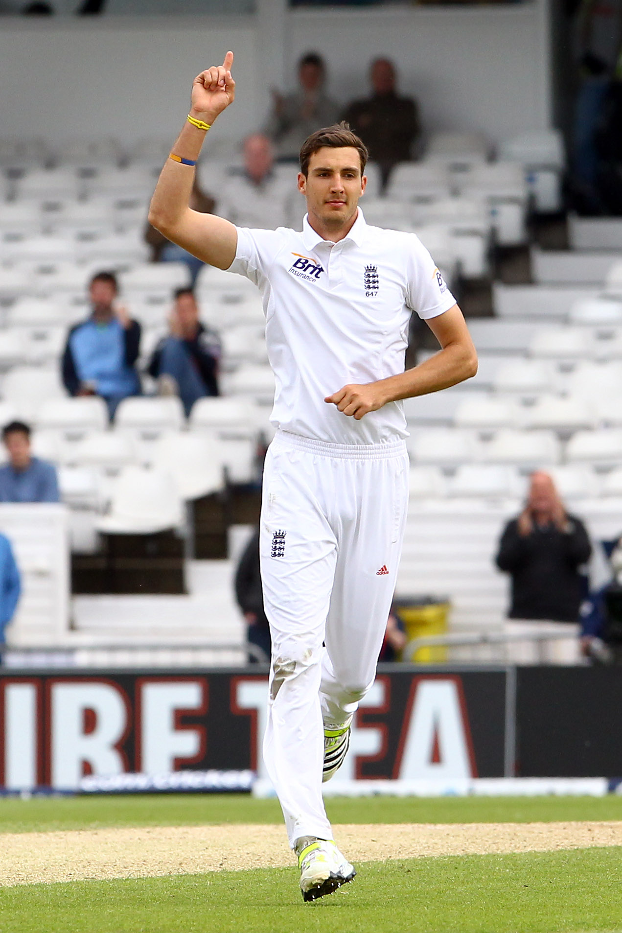 FORM GUY: Steven Finn has taken 15 wickets in his first two matches for Middlesex