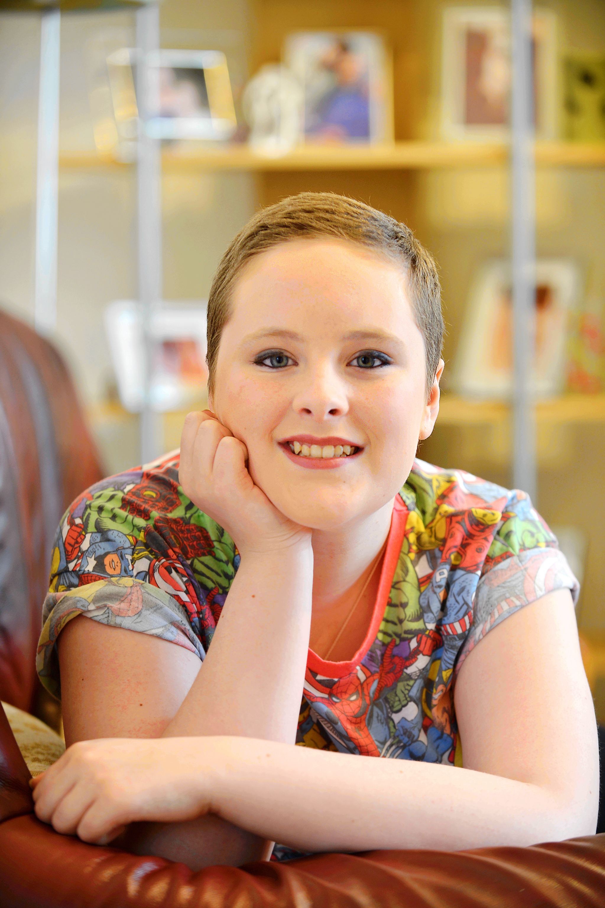 DELIGHT: Sarah Bullock, 14, wants to thank two charities