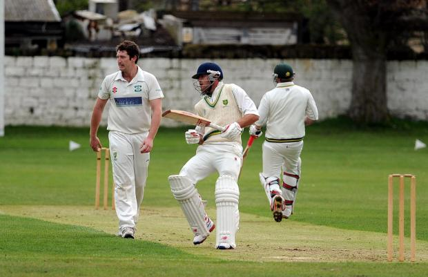 James Davies looks on during his 4-29 haul for Otley in a six-wicket win over Guiseley last weekend