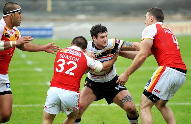 Jay Pitts made a winning debut for the Bulls against Catalan Dragons in the Challenge Cup at the weekend
