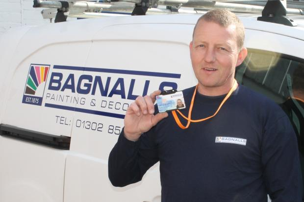 Simon Peters, from Bagnalls, with his Reset card