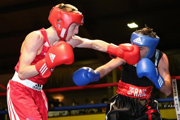 Jack Bateson, left, made a good fist of it but was outpointed in the ABA flyweight final