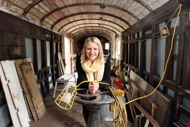 PLANNING: Debbie Cross says the carriage will help inspire visitors to a railway station