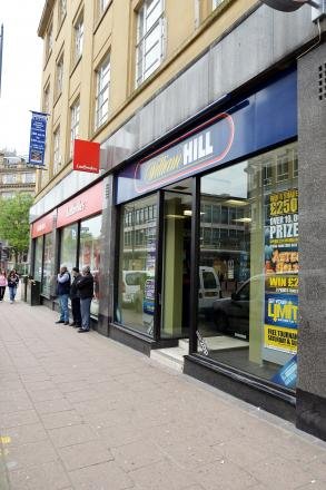 Some of the betting shops in Bradford city centre