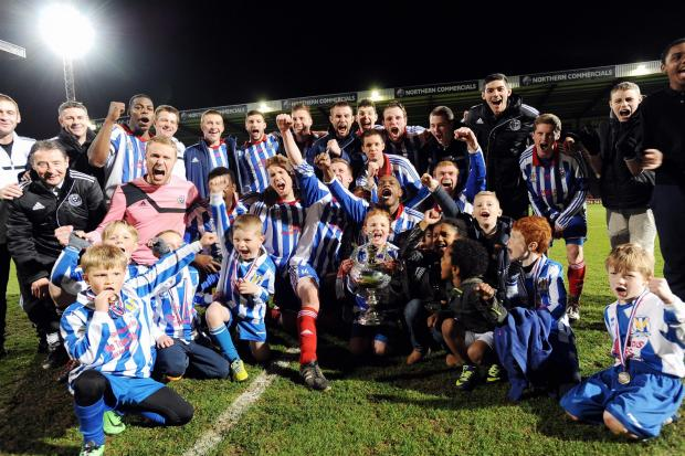 Eccleshill celebrate their County Cup final win