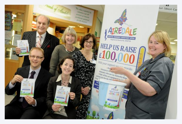 Bradford Telegraph and Argus: Supporters launch the appeal equip the new emergency department at Airedale Hospital