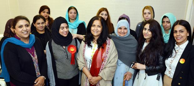 Bradford women share their views with a visiting politician