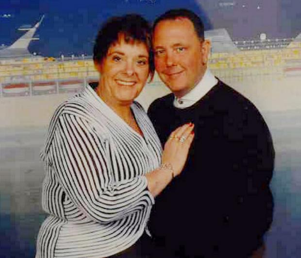 The Nickersons on board a cruise ship during their spending spree