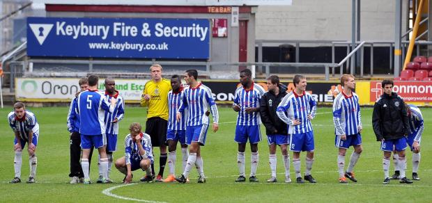 PENALTY PAIN: Eccleshill suffered disappointment in their second cup final at City