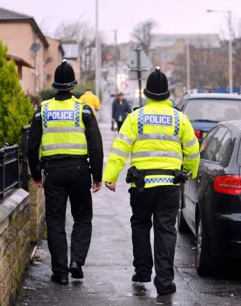 West Yorkshire Police officers on the beat