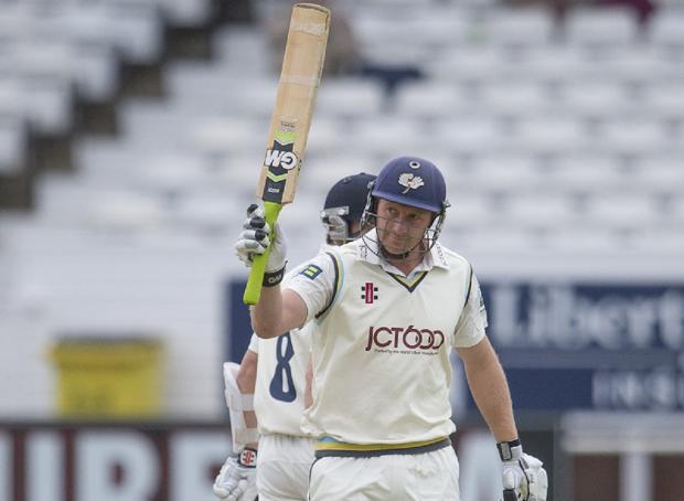 SWEET 16: Andrew Gale scored his 16th first-class hundred as Yorkshire's batsmen further demoralised Durham on day two of their LV= County Championship match