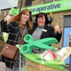 Bradford Telegraph and Argus: Sarah Dean, who opened the new Co-op store, with manager Heather Briggs