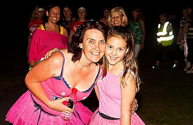 Joanne Craven and her daughter Ciccone at last year's event