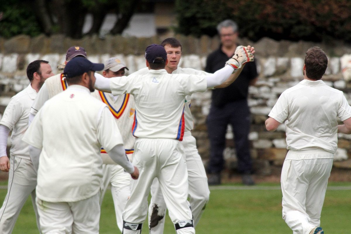 Steeton celebrate a wicket against Ben Rhydding last weekend
