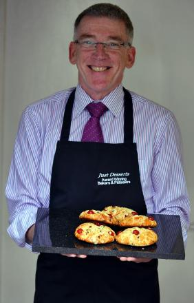 Just Desserts boss James O'Dwyer with his scones
