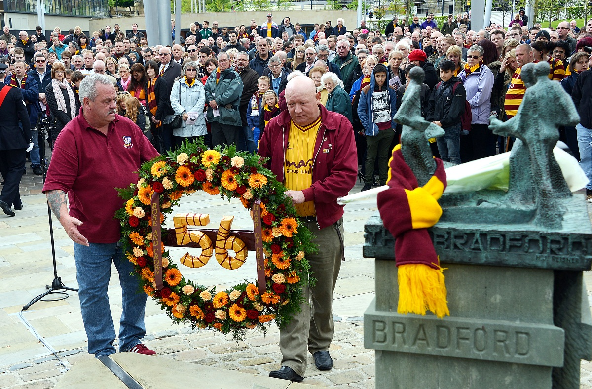 VIDEO: Tears at tribute to victims of Bradford City fire disaster