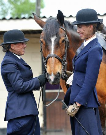 Sara Zayed and Emma Smith at Acrecliffe Equeatrian Centre, Otley, ahead of Otley Show