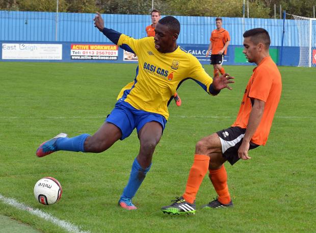 Danny Naidole, right, in action for Brighouse