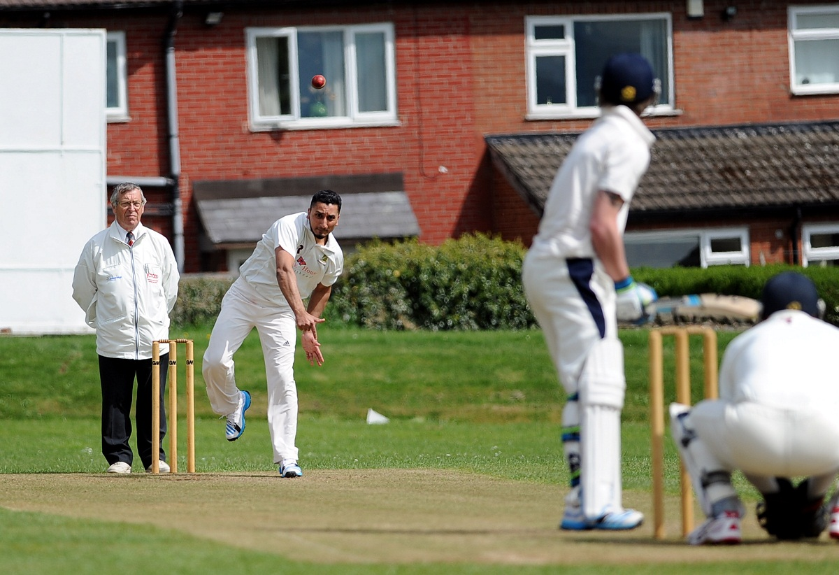 Tabbi Bhatti was East Bierley's all-round star in their league win over Pudsey Congs, scoring 68 not out and taking 2-26