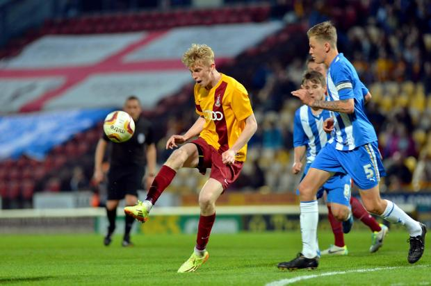 Oliver McBurnie scored 29 goals in 17 games for Bradford City youth team last season