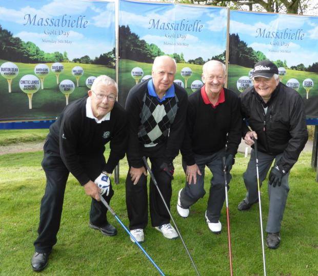 Golfers putt on the style for pilgrims