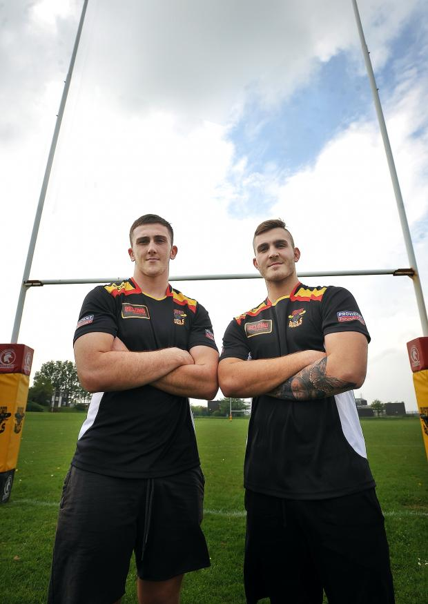 Bradford Telegraph and Argus: Loan signings Jordan Baldwinson, left, and Mason Tonks have quickly settled in with Bradford Bulls