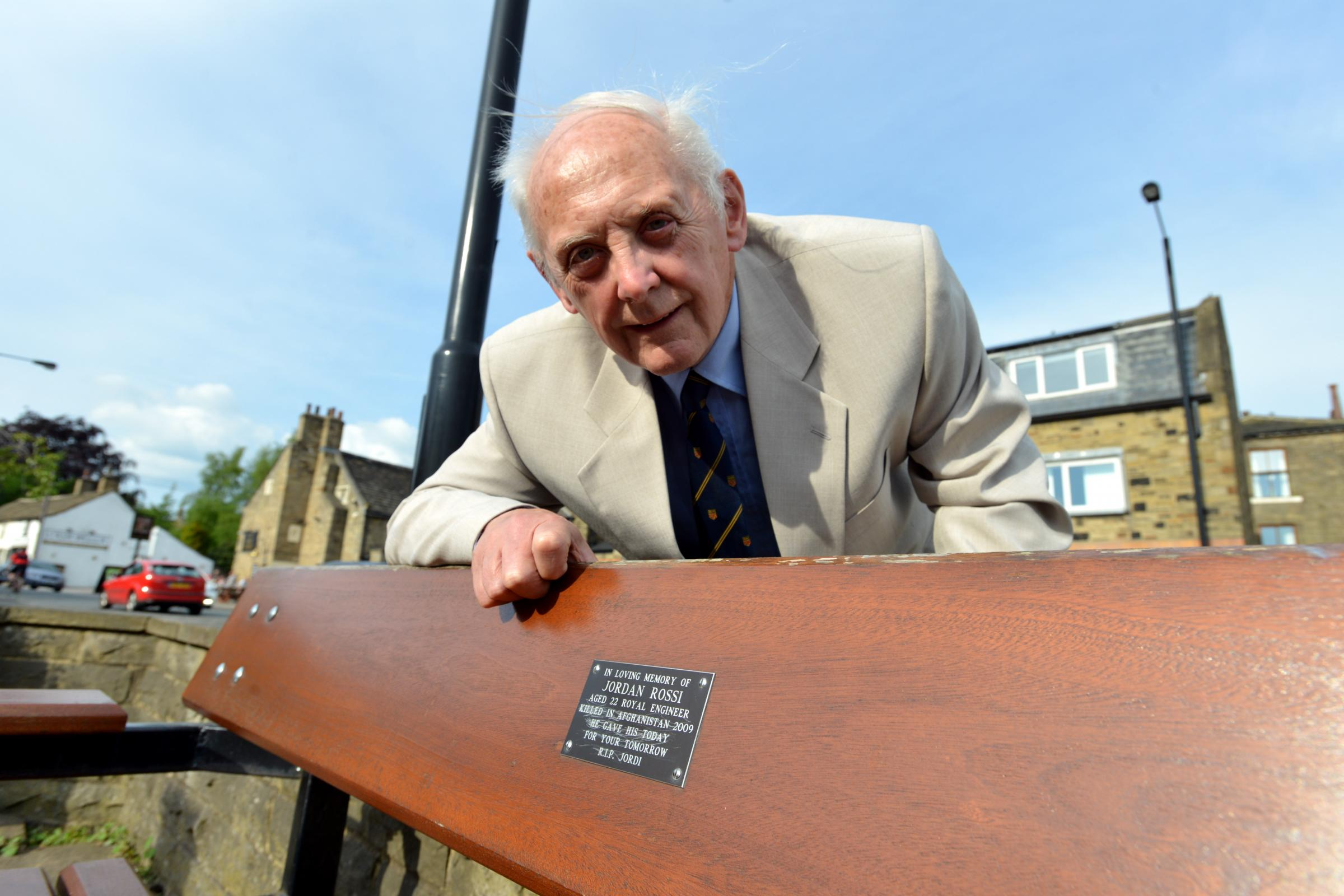 VIDEO: Heartache as soldier's bench plaque is defaced