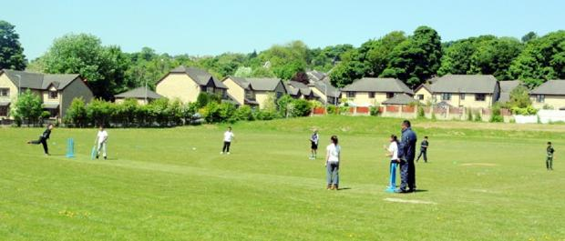 Action from last year's West Bradford area Drax Cup final at Great Horton Church Cricket Club