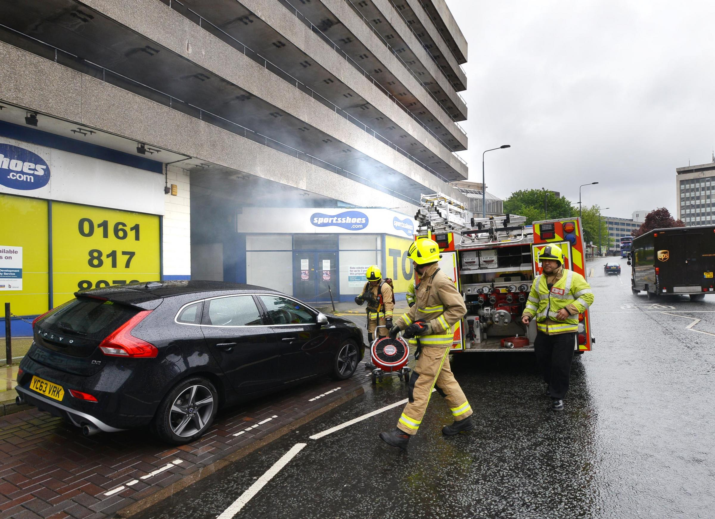 Fire in overpass to Bradford Interchange causes problems this morning
