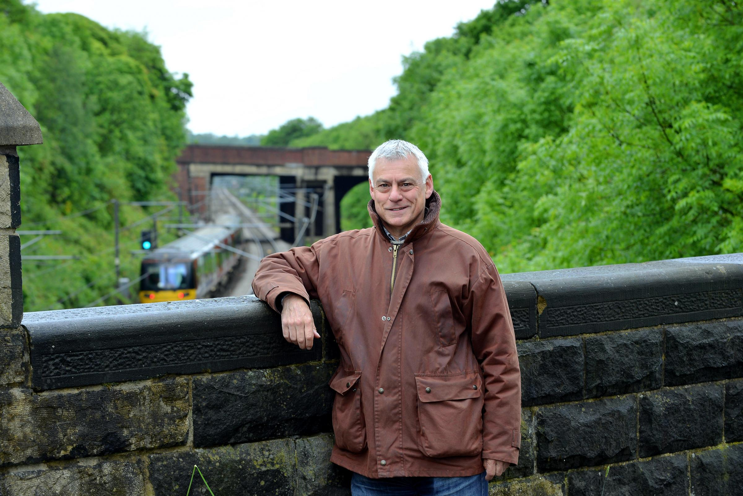 Bradford MP David Ward at the site of the new Apperley Bridge Station