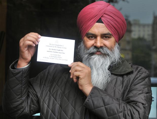 Ranbir Singh Rai with his Palace invitation