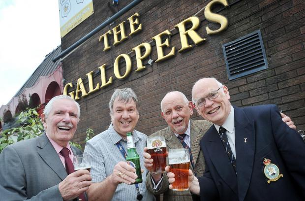 Eric Ross, David Birch, David Bryan and Joe Froggatt at The Gallopers pub, Wakefield Road, that will be the new meeting place for the Bradford branch of the RAF Association