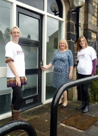 Cancer Support Bradford & Airedale staff members at the charity's new Skipton office