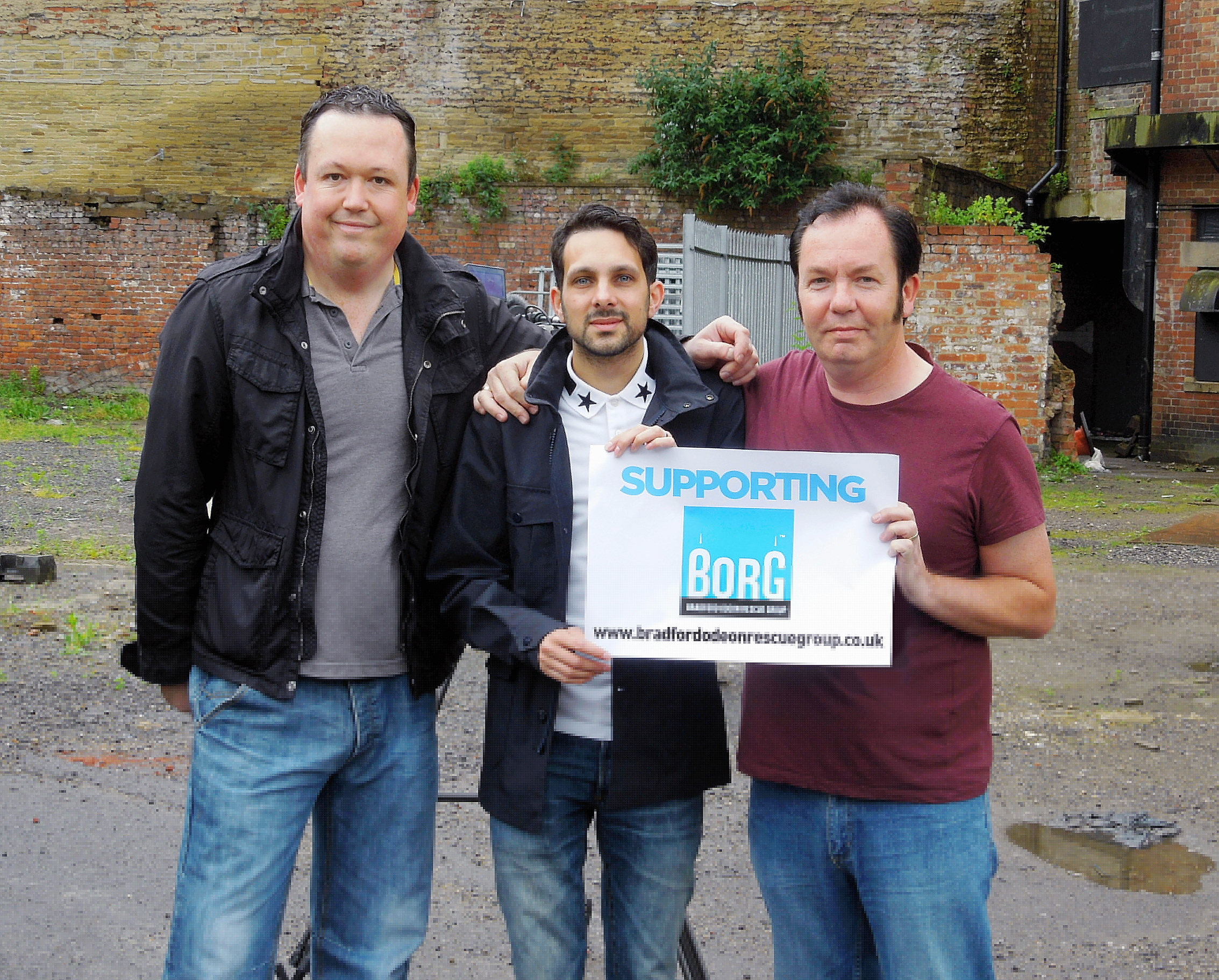 Matt Shaw of BORG with magician Dynamo (centre) and Mark Nicholson, also of BORG