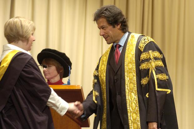 Imran Khan in his role as Chancellor of the University of Bradford