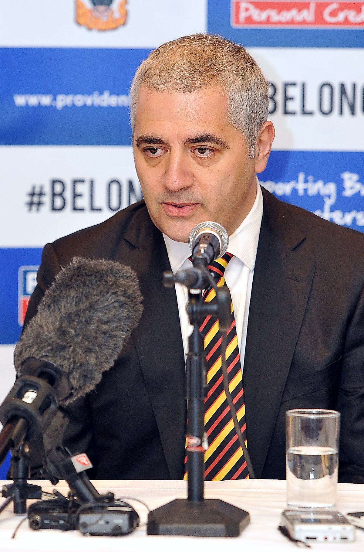 Bradford Bulls owner Marc Green put forward their case at today's points-appeal hearing