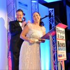 Bradford Telegraph and Argus: Joanna Robinson, of Mansfield Pollard, receives the Winner of Winners award