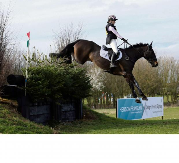 Bradford Telegraph and Argus: Charlotte Brear in action at the Bramham Horse Trials