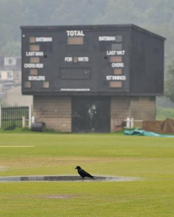 The match between Bradford & Bingley and Hanging Heaton at Wagon Lane was called off because of the weather on a miserable day for local cricket