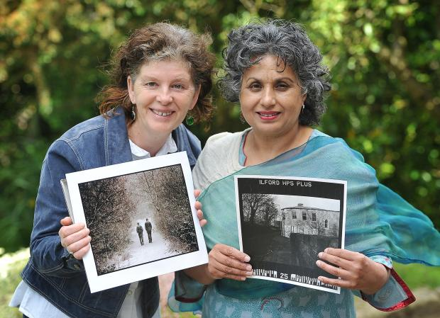 Local Photographers, Joan Russell and Nudrat Afza, who are judging the Heaton in Photos competition run by Heaton Township Association. Pictured  with some of their own images of Heaton.