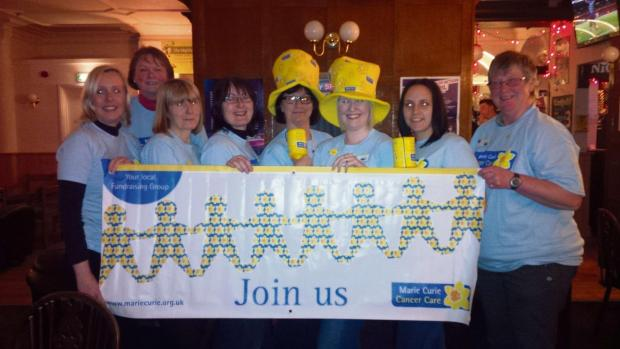 The new Idle Marie Curie Cancer Care Fundraising Group, (from left), Rebecca Exley, Mandy Butterfield, Anne Green, Wendy Wolsenholme, Andrea Brannan, Debbie Hughes, Carrie Broadbent and Barbara Throup.