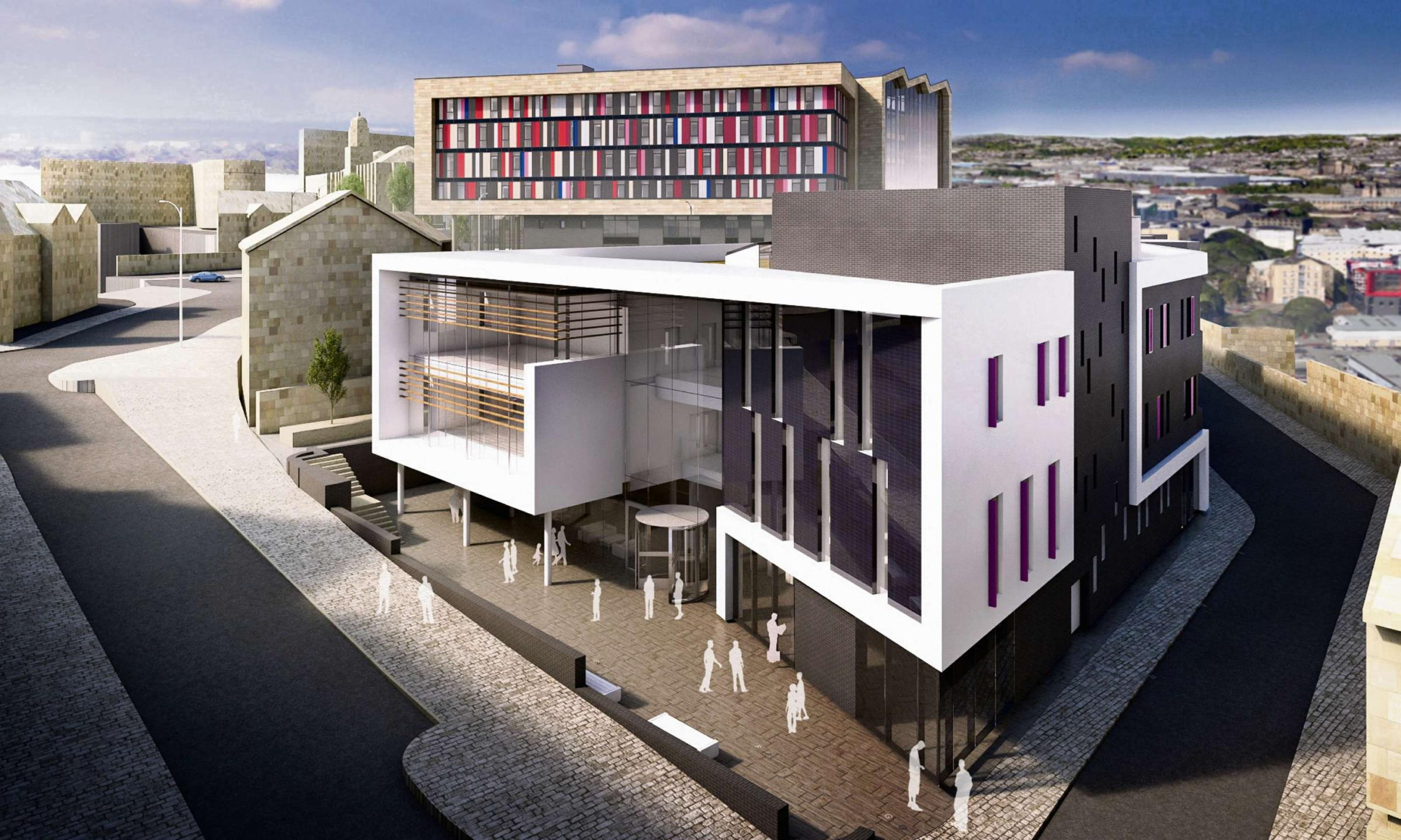 An artist's impression of the Advanced Technologies Centre at Bradford College