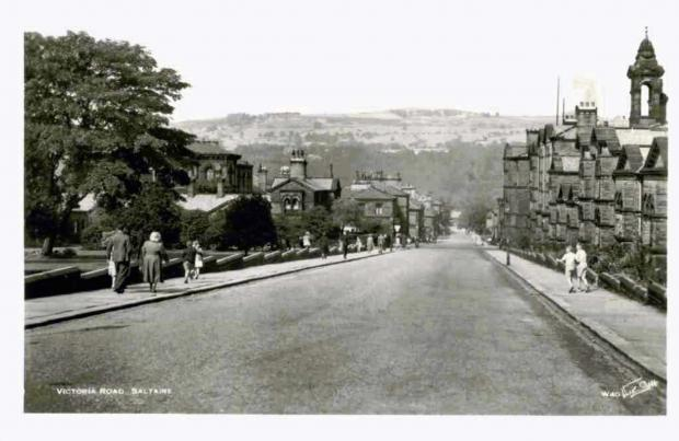 Bradford Telegraph and Argus: Victoria Road, Saltaire, post second world war, before the trees were planted.