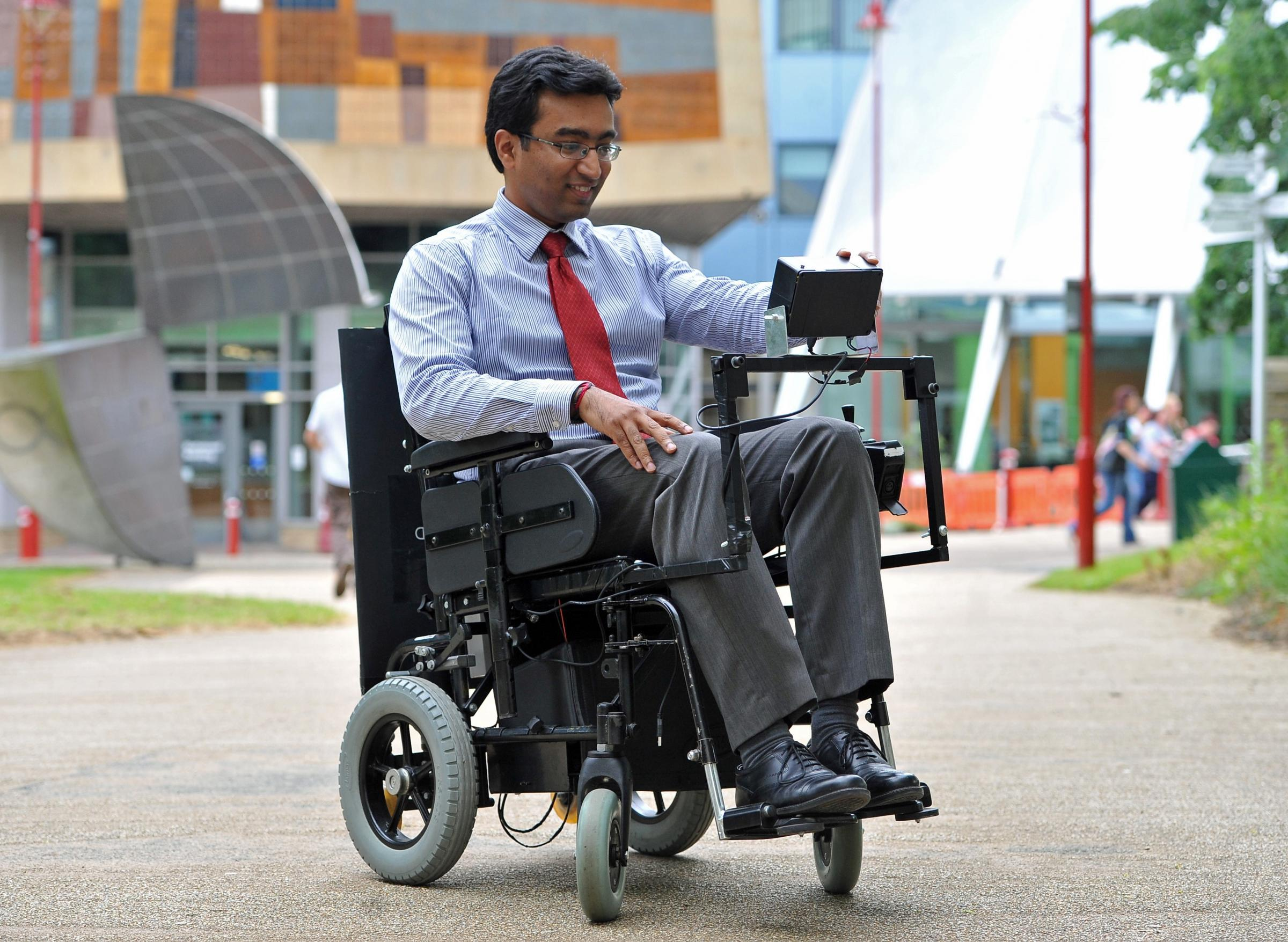 Dr Prashant Pillai takes a closer look at the device that allows the wheelchair to be moved by eye movement.
