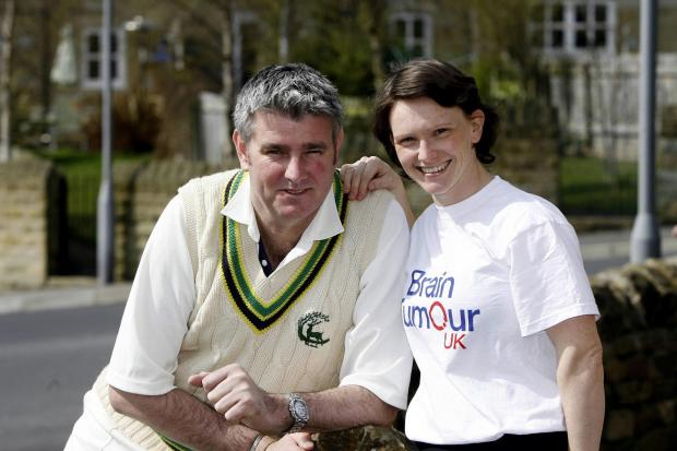 Bingley Congs'  former Kent and England pace bowler Alan Igglesden, with his wife Liz