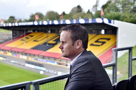 Francis Cummins surveys the scene at Odsal when he first took over the hot-seat in September 2012
