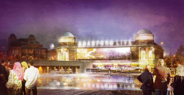 Artist's impression of Bradford Live's plans for the Odeon.